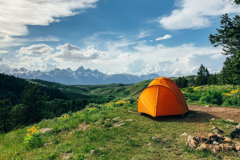 Tent in Grand Teton National Park