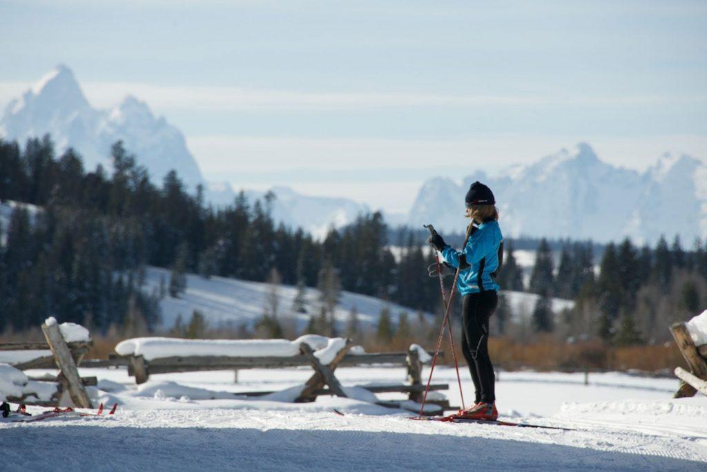 Skier in Jackson Wyoming